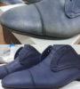 Полное восстановление цвета мужских кожаных туфель
