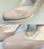 Устранение пятна и ссадины на женских кожаных туфлях