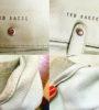 Удаление потертостей краски на светлой сумке