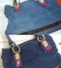 Восстановление цвета замшевой сумки